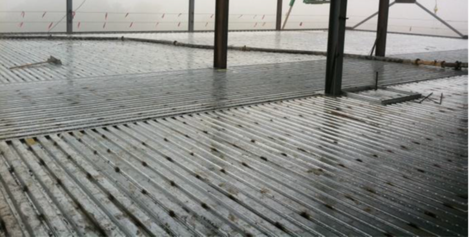 Composite Steel Deck Ready to Pour