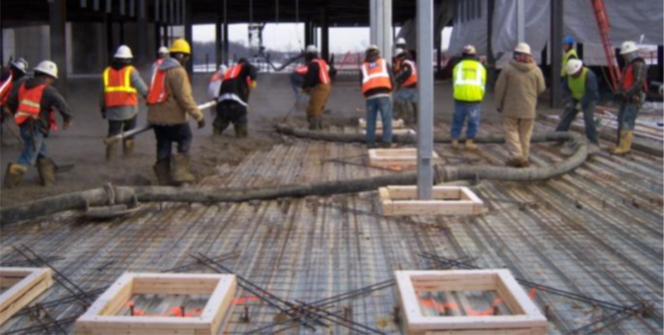 Composite Steel Deck With Rebar and Mesh